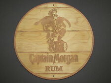 Captain Morgan Rum Wood Sign barrel top end style