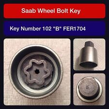 "Genuine Saab locking wheel bolt / nut key FER 1704 102 ""B"""