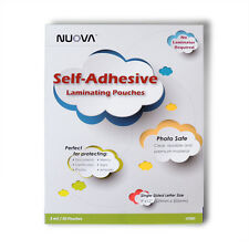 Nuova Premium Self-Adhesive Laminating Sheets 9 x 12 Inches Letter Size 50-Pack
