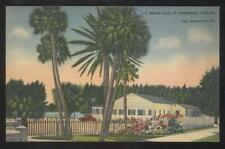 POSTCARD ST SAINT PETERSBURG FL/FLORIDA I.C. BEACH CLUB BUILDINGS 1930'S