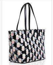 Kate Spade Pink Black Polka Dot Harmony  Small/Medium Tote Bag Purse Free Ship