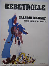 REBEYROLLE PAUL AFFICHE 1967 TIRÉE EN LITHOGRAPHIE MAEGHT LITHOGRAPHIC POSTER