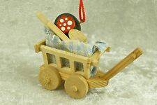 Vintage Wooden Sausage Wurst Wagon Cart Ornament Erzgebirge Germany - Ulbricht?