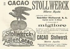 Y2180 Cacao Stollwerck marca Aquila - Pubblicità del 1903 - Old advertising