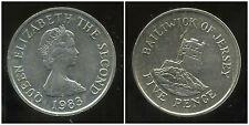 ROYAUME UNI (  jersey )  five   5  pence 1983