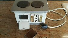 VINTAGE TOY STOVE OVEN EFZET TIN METAL ELECTRIC1950'S DOLL'S TOY ORIGINAL WORKS