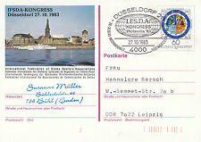 GERMAN PADDLE STEAMER ON CACHED POSTCARD INT STAMP DEALERS ASSOCIATION CONGRESS