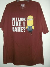 NEW 2XL DISPICABLE ME ADULT T SHIRT MINIONS DO I LOOK LIKE I CARE