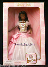 Birthday Wishes Barbie Doll Pink Dress African American AA