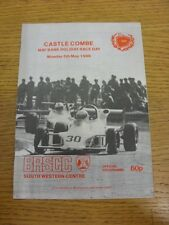 05/05/1986 Motor Racing Programme: At Castle Combe, May Bank Holiday Race Day Of