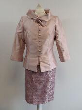Carla Ruiz Mother Of The Bride 4 Piece Skirt Suit Dusky Pink Size 10 - Box6443 E