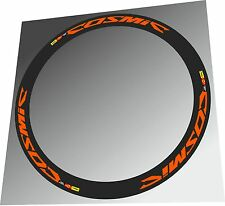 MAVIC COSMIC CARBONE ORANGE COLOR SL - SLR - SLE RIM DECAL SET FOR TWO RIMS