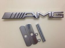 New Emblem Badge AMG Metal Front Grille Grill Sticker Car Logo For Mercedes-Benz