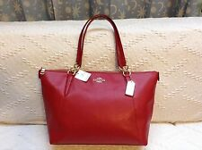 NWT. COACH CROSSGRAIN LEATHER AVA TOTE HANDBAG SHOULDER BAG F35808