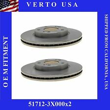 Front Set Disc Brake Rotors Front , Verto USA  Fit Hyundai,  Kia