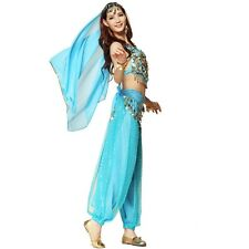 Belly Dance Costume Bollywood Indian Dance Dress Carnival Party Top Pants Set UK
