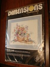 Vtg Dimensions Ribbons N Lace Cross Stitch Kit Sealed Barbara Mock 1989