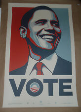 Shepard Fairey Obama VOTE Official Election print poster Numbered out of 5000