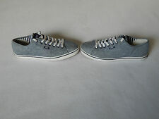 VANS GREY NAVY MENS SHOES TRAINERS ,UK 8 US 9