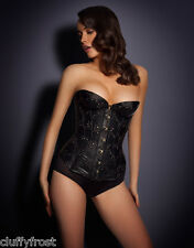 AGENT PROVOCATEUR DANIELLAH LEATHER LOOK SEXY BLACK CORSET SIZE 1 X SMALL  BNWT