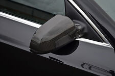 TO FIT AUDI A3, A5 (10+) A4 (11+): CARBON FIBRE WING MIRROR TRIM SET COVERS CAPS