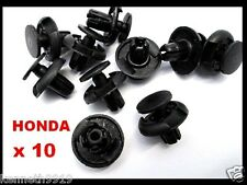 Honda Accord Civic Front Fender Push-Type Replacement Black Plastic Clips T44