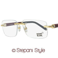 Montblanc Rimless Eyeglasses MB483 030 Size: 58mm Yellow Gold/Burgundy 483