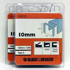 BLACK & DECKER TYPE 2 STAPLES 10MM  B&D A5918 BD418 DN418 (2 PACKS)