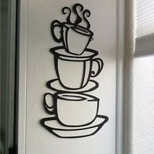 Creative Coffee House Cup Decal Vinyl Wall Sticker Removable Home 38*21cm Decor