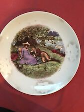 Beautiful Antique Danilo Porcelain Hand Painted Landscape Charger Plate ,Germany