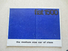 1960s Fiat 1500 automobile advertising booklet