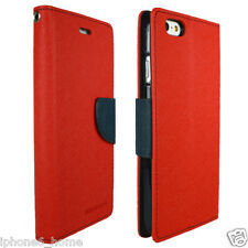 Genuine MERCURY Goospery Red Folio Case Wallet Cover For Apple iPhone 6/6s PLUS