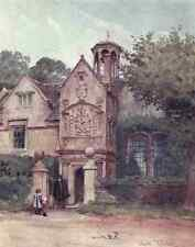 A4 Photo Tyndale Walter 1855 1943 Wessex 1911 The Almshouses Corsham Wilts Print