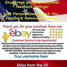 100 CUSTOM THANK YOU BUSINESS CARDS FOR THE eBay SELLER FREE SHIPPING