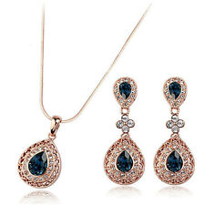 Fashion Jewelry - 18K Rose Gold Plated Drop Set (FS060)