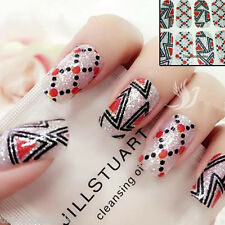 Sparkly Triangle/Dot Pattern Nail Art Wrap Full Cover Stickers #06099 Free P&P