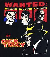 True Vintage 1990 Dick Tracy Wanted FlatTop Big Boy Pruneface Disney T-Shirt L