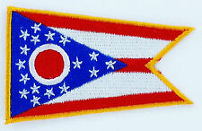 AUFNÄHER Patch FLAGGEN flagge OHIO USA STAATEN flag Fahne 7x4.5cm
