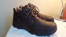 MENS CLARKS ACTIVE AIR BROWN CASUAL LEATHER BOOTS SIZE 8 UK  G FITTING
