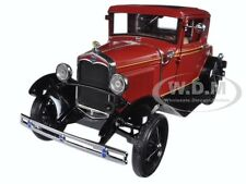 1931 FORD MODEL A COUPE RUBELITE RED 1/18 DIECAST MODEL CAR BY SUNSTAR 6131