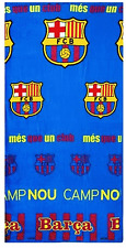 F.C.BARCELONA TOWEL TG OFFICIAL MERCHANDISE BRAND NEW 100% COTTON BEACH / BATH