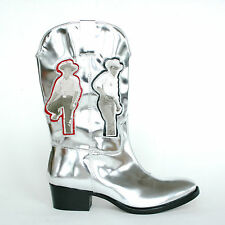 ACNE STUDIOS x BRUCE OF LOS ANGELES Tara Rodeo silver gay cowboy boots 40/7 NEW
