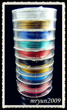 FREE Jewelry Design 100Meter (10 coil) Mixed tiger tail Cord beading wire 0.38MM