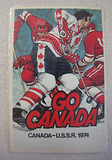 Russian Soviet USSR Go Canada Team Hockey Postcard to Tretiak 1974