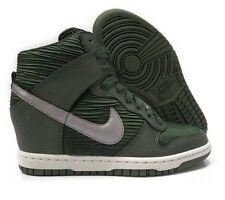 NIKE WMNS DUNK SKY HI CARBON GREEN HIDDEN WEDGE SZ 12 [528899-302]