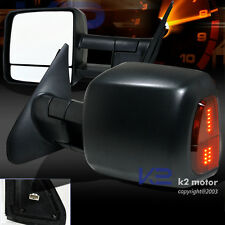 07-13 Toyota Tundra Pickup Heated+Power+LED Signal Extendable Towing Mirrors