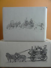 Dept 56 55611 Fire Brigade Of London Town & Holiday Coach Christmas Village Lot
