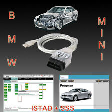 BMW USB OBD DIAGNOSTIC CABLE INTERFACE INPA K+DCAN ISTA ISID SSS V32 Progman