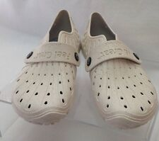 Barefooters Ivory Cork Silicone Slip Ons Size 39,8-81/2 Women's 6-61/2 Italy