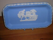 Lovely Wedgwood blue jasper ware oblong dish/pin tray